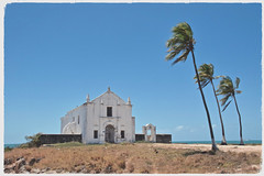 The Chapel (The Spirit of the World ( On and Off)) Tags: chapel church christian religion religious palmtrees sky blue old historical islademocambique island mozambique africa ocean indianocean chapelofnessasenhoradebeluarte