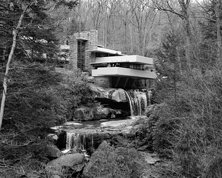 Fallingwater B&W - Explored!