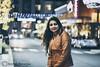 Sweet Smile (Samrat_Banerjee) Tags: girl woman smile night happy joyful jacket hair lipstick bokeh nikon d810 sigma 105mm macro street trees singer hangout