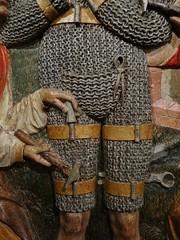 ca. 1510-1520 - 'Conversion of William of Aquitaine', Église Saint-Guillaume, Strasbourg, dép. Bas-Rhin, France (roelipilami (Roel Renmans)) Tags: 1510 1520 1515 1505 st saint william guillaume maleval malavalle wilhelm duc duke aquitaine aquitanien conversion panel wooden relief bas rhin cotte de mailles hauberk kettenhemd flap mail maliënkolder helm cervelliere guglielmo bois altar piece strasbourg strassburg france retable armour armure rüstung helmet church kirche église hermit