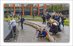 Back To My Roots (Fermat 48) Tags: manchester piccadilly gardens photographers cameras tripods fountains water pizza express canon eos 7dmarkii