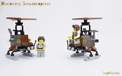 01_Discovery_-Steamcopters (LegoMathijs) Tags: lego moc legomathijs steampunk discovery steamcopters flying rotor minifigs pickaxe crate iron drone speeder steam steampowered gears scifi