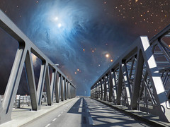 Star Bridge (Ed Sax) Tags: sf brücke all sterne nebel sternennebel phantasie cgi sciencefiction fiction surreal