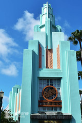Hollywood Studios Building (rook.behr) Tags: nostalgic outdoorscenescape outdoors day building disneyworld clouds hollywoodstudios outside scenedesign scenery setdesign setting