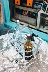 Empty bottles (borishots) Tags: emptybottles bottle bottles analog retro vintage fuji fujinon fujifilm fujifilmx100t x100t blue cyan green glass oslo norway scandinavia windows orange table rust rusty