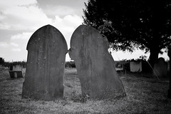 Together Forever (Douguerreotype) Tags: church mono graveyard bw essex monochrome cemetery 2 blackandwhite