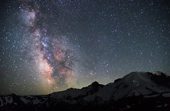 Rainier Rising (Greenneck) Tags: rainier sunrise tiff ashford washington unitedstates us mountrainier astro milkyway astrophotography nightscape landscape nightphotography