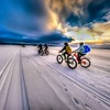 Biking on frozen Great Slave Lake (Northwest Territories). Edited image - HDR process. (SteveSchwarzPhotography) Tags: ifttt instagram yellowknife fatbiking winter ice snow biking northwestterritories canada
