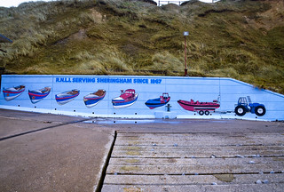 A wall of lifeboats