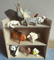 Hideo Komatsu challenge, 41-50/50 (Orizuka) Tags: butterfly crab giraffe rhinoceros papillondog tiger lion panda japanesemacaque bird origami hideokomatsu