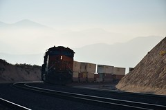 Mountain Pass (CrispyBassist) Tags: railroad railway train track california bnsf bnsfrailway cajonpass mountain intermodal freighttrain locomotive diesel