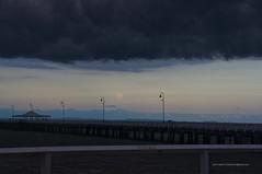 Full moon rising under shelf cloud at Sandgate Pier Shorncliffe IMGP2984c (john.robert_mcpherson) Tags: bay bramble full moon shelf cloud