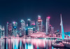 Fun with cotton candy colours (starlightz82) Tags: singapore asia landscape nightscape cityscape city colour cotton candy marinabay reflection water long exposure nikon d7000 tamron