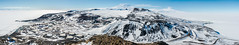 Ross Island Panorama (redfurwolf) Tags: antarctica mcmurdo scottbase panorama pano mountain island rossisland sky volcano landscape outdoor ngc rock road town base clouds snow ice redfurwolf sonyalpha a99ii sal1635f28za sony