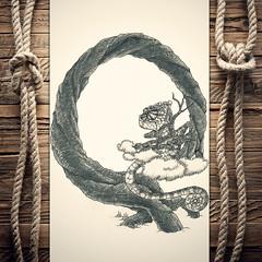 Qhameleon (reXraXon) Tags: art artwork pencilart drawing handdrawing sketch pencilsketch typography lettering handlettering letteringart chameleon tree