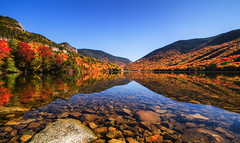 Echo Lake (Robert Clifford) Tags: newhampshire autumn color echolake fall foliage franconianotch historic lake land mountainrange moutains nh notch reflection robcliffordphotography robertclifford robertallancliffordcom scenic sky trees view water whitemountainnationalforest whitemountains