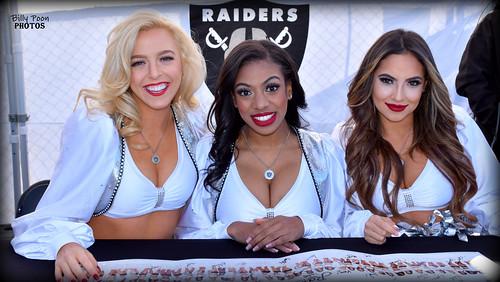 2017 Oakland Raiderettes - Kara, Chelcy & Angel