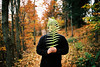 autumn walk in forest (janamartish) Tags: film analog 35mmfilm photography analogue 35mm filmcommunity analogclub forest walk nature faceless man autumn kodak ektar 100 canon