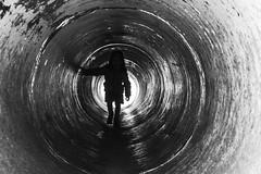 """Voir le bout du tunnel...""""Explore """" (De l'autre côté du mirOir...) Tags: voirleboutdutunnel personne bretagne breizh bzh fr brittany france french noiretblanc noirblanc nb blackwhite bw négroyblanco monochrome nikon nikkor d810 nikond810 240700mmf28 explore"""