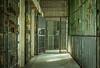 Missouri State Penitentiary (Rodney Harvey) Tags: prison bars penitentiary yellow green peeling paint missouri jail walls