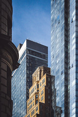 Old and New (Said Tayar Segundo) Tags: building sky blue nyc nova iorque ny usa urban reflection glass