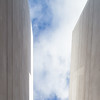 hope is the thing with feathers (caeciliametella) Tags: lorrainekerr photography 2017 caeciliametella abstract astratto urban urbano newcastleupontyne chinatown 11 square clouds nuvole white architecture architettura cielo sky portland stone jurassic emilydickinson