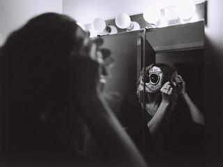 Joanne Putting on Her Sugar Skull Makeup