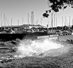 Oyster Point marina, sea wall, SF Bay, waves, wind gusts, King Tide, (David McSpadden) Tags: kingtide oysterpointmarina seawall sfbay waves windgusts