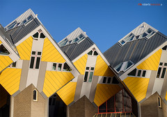 Cube houses (Roberto Marzola) Tags: case cubicherotterdam boomwoningen paalwoningen pietblomyellow city architecture netherlands geometric cube modernarchitecture kubuswoningen cubehouses pietblom yellow