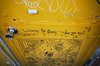 """free your mind"" (Eric Flexyourhead) Tags: koenji 高円寺 suginami suginamiku 杉並区 tokyo 東京 japan 日本 city urban detail fragment shop store door doorway art artwork graffiti yellow vibrant vivid ricohgr"