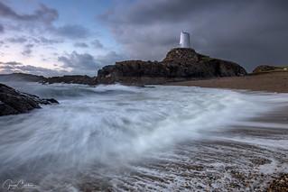 Llanddwyn Island Lighthouse, Anglesey, Wales.