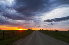 I'm Not in Kansas Anymore... (Matt Champlin) Tags: kansas dirtroad dirtroadanthem nature landscape peaceful travel road sunrise dynamic storm stormy colorful canon 2017 eclipse summer desolate beautiful