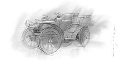 Panhard s (Stefan Marjoram) Tags: sketch drawing ipad pro procreate apple pencil car vintage racing plein air