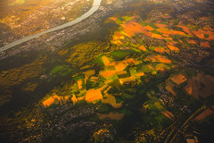UP IN THE AIR (Martin K Photography) Tags: airplane flughafen drone air sun sunset sunrise clouds nice warm field river germany cologne flight high travel