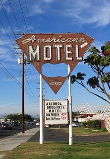 Americana Motel Sign - Anaheim, Calif.