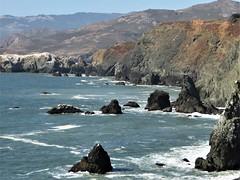 Marin County, CA, Point Bonita Lighthouse (1855), Pacific Ocean Seascape (Mary Warren (9.3+ million views)) Tags: california marincounty pacificocean capebonita nature landscape water seascape coastline cliffs waves rocks