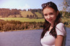 Portrait C (anquin.photography) Tags: girl sun sea alpen alpsee mountain lake portrait sweet beauty blue sky white shirt sunglas immenstadt germany deutschland mädchen sephia grün gras wasser water see blau himmel sonnenbrille schwarz lange haar braun smile lächeln model face red rot sommer summer good feelings love