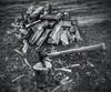 The Axe (vwcampin) Tags: iphoneography iphoneographer iphonology iphoneology florence wymanheights nebraska omaha swing blackandwhite chop cordwood splittingwood split splitting wood firewood axe ax