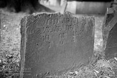 1683 Tombstone (Brian Knott Photography) Tags: boston massachusetts city urban eastcoast grave gravestone tombstone headstone gravemarker broken old ancient 1600s 17thcentury 1683 engraved carved cemetery graveyard burialground buryingground