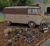 Toys for the boys Anhelo (ᗷOOᑎᕮ ᗷᒪᗩᑎᑕO) Tags: secondlife anhelo gacha arcade 2017 vw camper van engine bits mancave boys toys swap meet