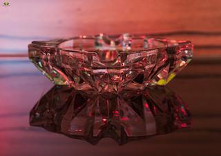 lead crystal  ashtray #SmileOnSaturday #MadeOfGlass