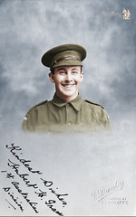 Smiling Hubert Henry GRACE - Colorized 2017 (Paper People Past) Tags: soldier australian ww1 wwi hubert henry grace paper people colorized colorization smile smiling named colourise colourisation colourised photo signed namedfacesfromthepast old anzac happy
