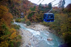 DolaGonDola (tez-guitar) Tags: gondola autumn 紅葉 autumn leaves mountain highland trees wood forest stream water river pentax pentaxart