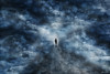 how did i get here . . . (YvonneRaulston) Tags: surreal stars clouds sky road person blue atmospheric art abstract creativeartphotography calm cold colour dream emotive texture peaceful fineartgrunge soft light moody moments man sony photoshopartistry path street sundaylights
