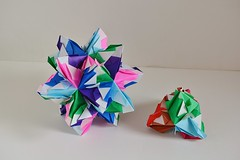 Taurica Kusudamas (Byriah Loper) (Byriah Loper) Tags: origami modularorigami modular byriahloper byriah paperfolding paper polygon polyhedron compound complex