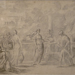 POUSSIN Nicolas (Attribué) - Eliezer et Rebecca (drawing, dessin, disegno-Pontoise) - 0 thumbnail