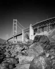 The Gate (mhx) Tags: 45f2 720nm architecture beach blacksky bridge bw california chamonix goldengatebridge haida infrared longexposure monochrome rocks sanfrancisco schneider supersymmar usa water