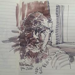 Peter Smith pour #JKPP  @juliakaysportraitparty #sketch #portrait (dege.guerin) Tags: portrait sketch jkpp