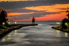 Lighthouse at Dusk (T P Mann Photography) Tags: horizon pier lighthouse light sea lake sky sunset