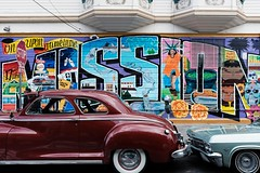 Once Upon a Time in the Mission (thedailyjaw) Tags: sanfrancisco sf bayarea california bay sfmoma mission themission ca colors streetphotography museum culture walkerevans x100f fuji classicchrome acros fujifilm x100series xseries classiccars lowrider